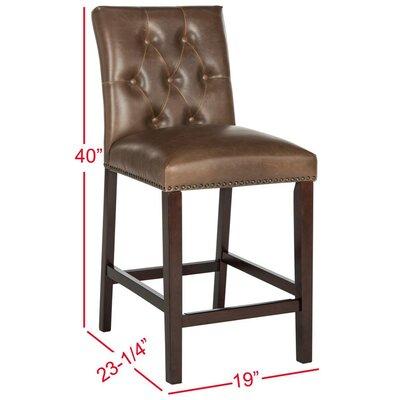 Gowans 27.5 Bar Stool Upholstery: Brown