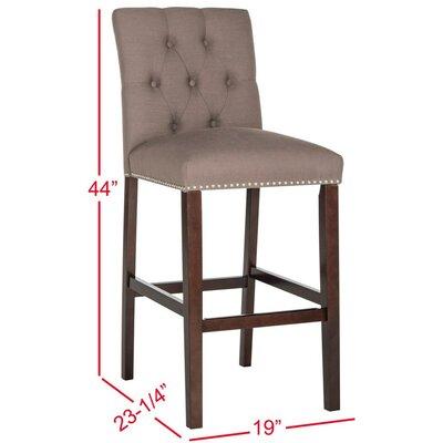 Gowans 31.5 Bar Stool Upholstery: Dark Taupe