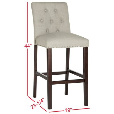 Gowans 31.5 inch Bar Stool Upholstery: Light Gray