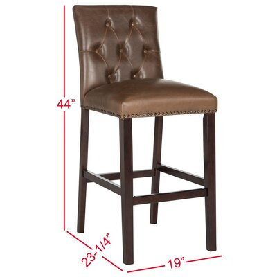Gowans 31.5 inch Bar Stool Upholstery: Brown