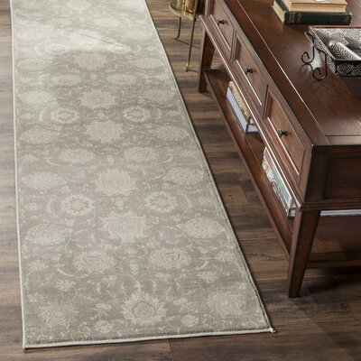Adelaide Gray / Ivory Area Rug Rug Size: Rectangle 4 x 57