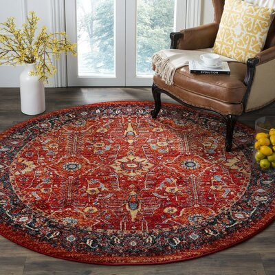 Hardin Red Area Rug Rug Size: Rectangle 67 x 9