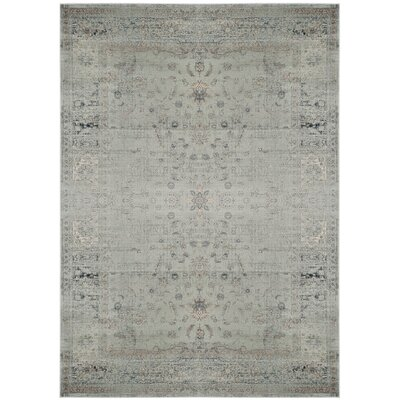 Crestshire Blue Area Rug Rug Size: Rectangle 67 x 92