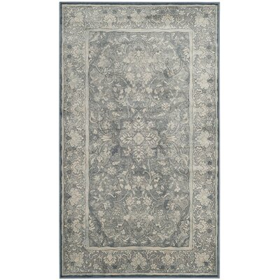 Crestshire Blue Area Rug Rug Size: Rectangle 4 x 57