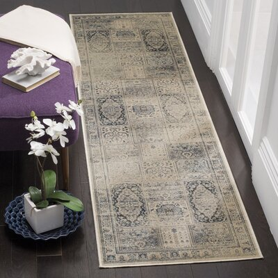 Ercole Green/Blue Area Rug Rug Size: Runner 22 x 8