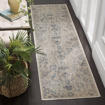 Curtis Green/Blue Area Rug Rug Size: 53 x 76