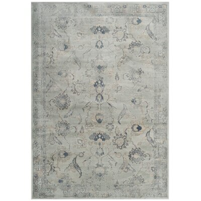 Crestshire Blue Wool Area Rug Rug Size: Rectangle 53 x 76