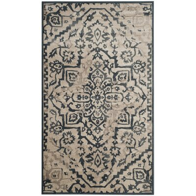 Ercole Beige/Blue Area Rug Rug Size: Rectangle 53 x 76