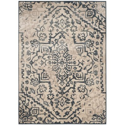 Ercole Beige/Blue Area Rug Rug Size: Rectangle 810 x 122