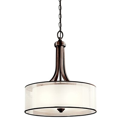 Boswell 4-Light Drum Pendant Finish: Mission Bronze