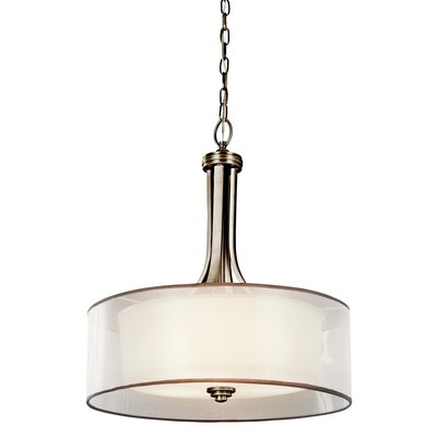 Boswell 4-Light Drum Pendant Finish: Antique Pewter