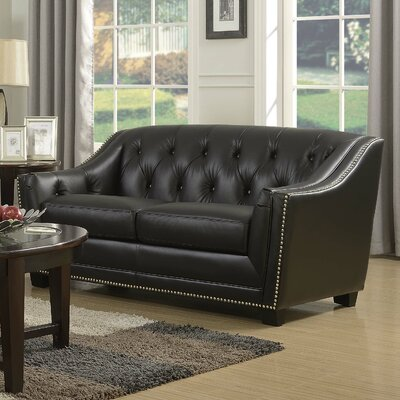 Tux Leather Loveseat Color: Antique Coffee