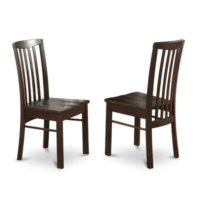 Bonenfant Side Chair (Set of 2) Finish: Light Cherry, Upholstery: Wood Seat