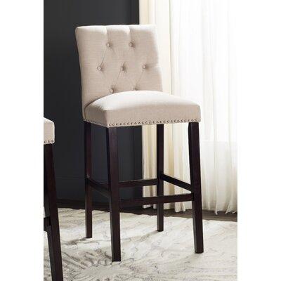 Gowans 31.5 Bar Stool Upholstery: Beige