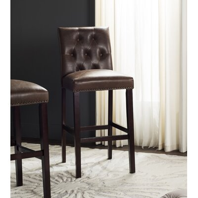 Gowans 31.5 Bar Stool Upholstery: Brown