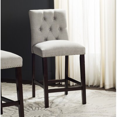 Gowans 27.5 Bar Stool Upholstery: Light Gray