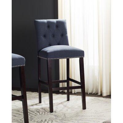 Gowans 31.5 Bar Stool Upholstery: Navy