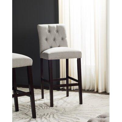 Gowans 31.5 Bar Stool Upholstery: Light Gray