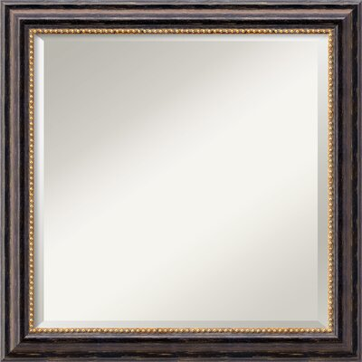 Square Brown Wood Mirror