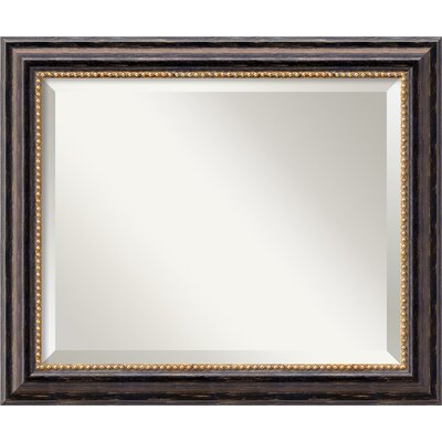 Rectangle Wood Wall Mirror Size: 19.97'' H x 23.97'' W