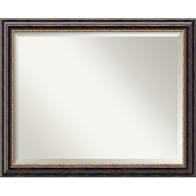 Rectangle Wood Wall Mirror Size: 25.75'' H x 31.75'' W
