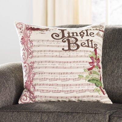 Jingle Bells Cotton Duck Throw Pillow