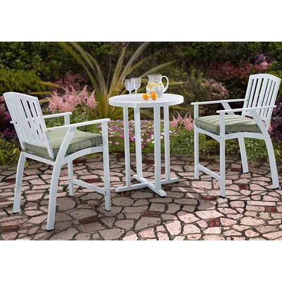 Heather 3 Piece Bistro Set with Cushions