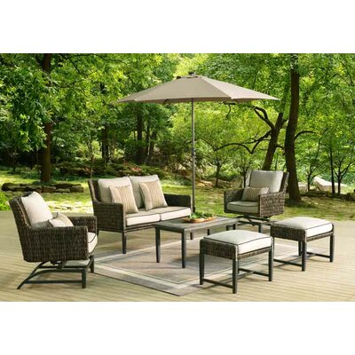Barmadale 6 Piece Rocker Deep Seating Group with Cushion