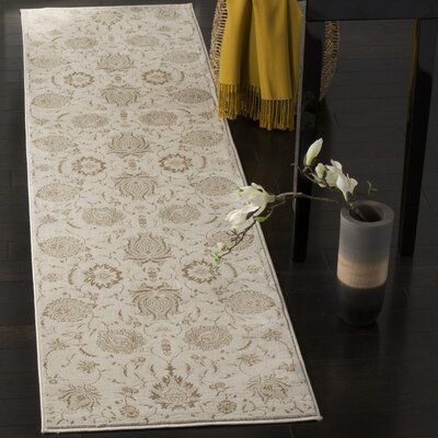Acropolis Cream / Camel Area Rug Rug Size: Rectangle 67 x 92