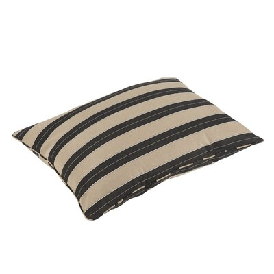 Barrelli Stripe Piped Indoor/Outdoor Sunbrella Floor Pillow
