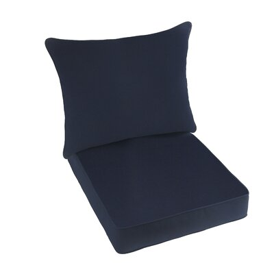 2 Piece Indoor/Outdoor Sunbrella Lounge Chair Cushion Set