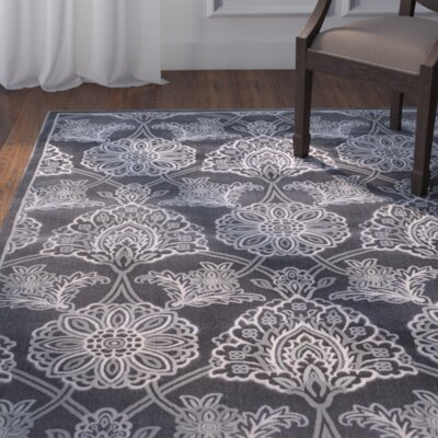 Benton Gray Area Rug Rug Size: Rectangle 52 x 72