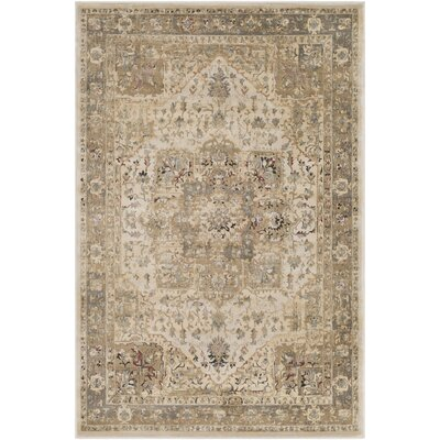 Basildene Beige Area Rug Rug Size: Rectangle 5 3 x 7 6