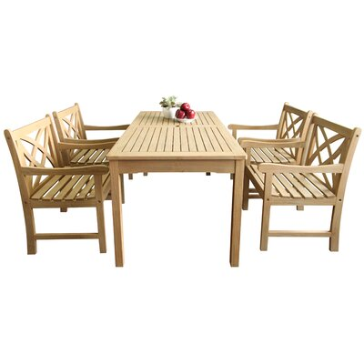 Beverly Outdoor 5 Piece Dining Set