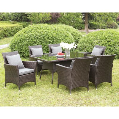 Derby 7 Piece Dining Set with Cushions