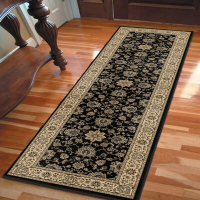 Arradale Onyx Black/Beige Area Rug