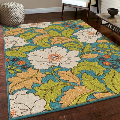 Arradene Gemstone Blue/Green Area Rug