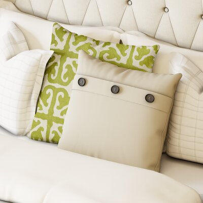 Goodwin Throw Pillow Color: Natural