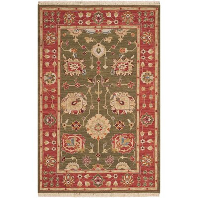 Cullen Hand-Woven Olive Area Rug Rug Size: 910 x 1310