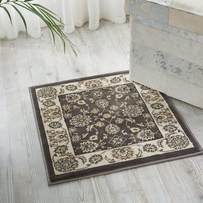 Atlasburg Charcoal/Ivory Area Rug Rug Size: Rectangle 53 x 74