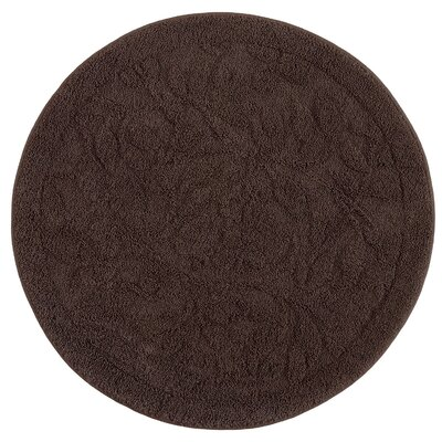 Bates Sage Bath Mat Size: 36 H x 36 W x 0.47 D, Color: Chocolate