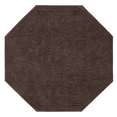 Bates Sage Bath Mat Size: 48 H x 48 W x 0.47 D, Color: Chocolate