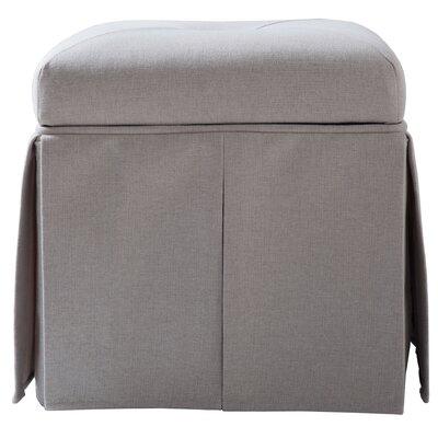 Batesford Square Storage Ottoman Upholstery: Bone White
