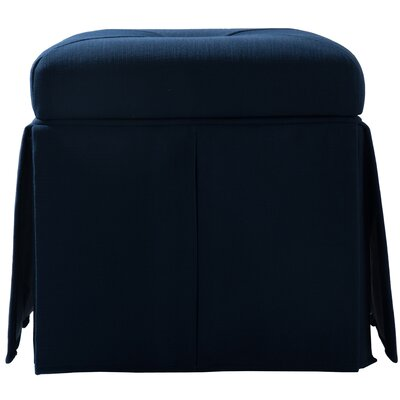 Batesford Square Storage Ottoman Upholstery: Midnight Blue