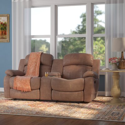 Hall Glider Reclining Sofa Upholstery: Brown