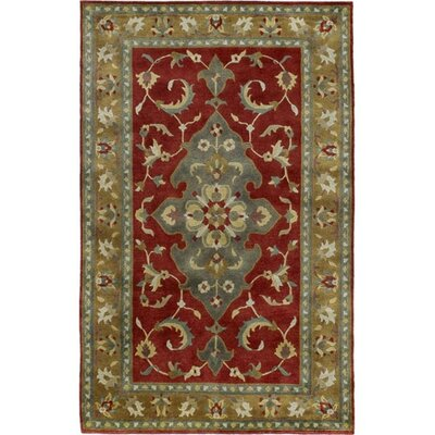 Baudin Tibetan Red/Gray Area Rug Rug Size: Rectangle 9 x 13