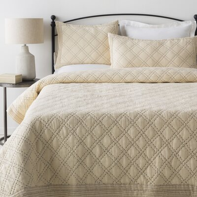Portrush 2 Piece Duvet Set Color: Cream/Charcoal, Size: Twin