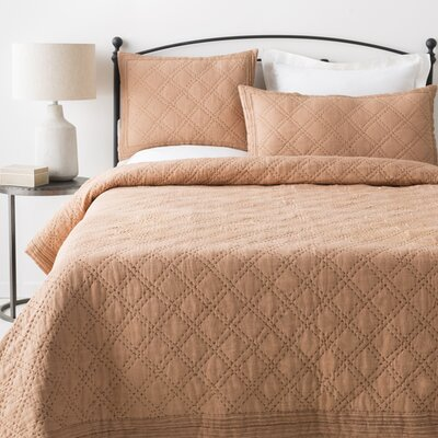 Portrush 2 Piece Duvet Set Size: King/California King, Color: Camel