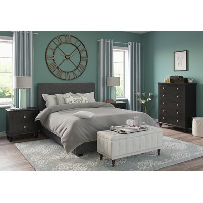 Roodhouse Upholstered Panel Bed Size: King
