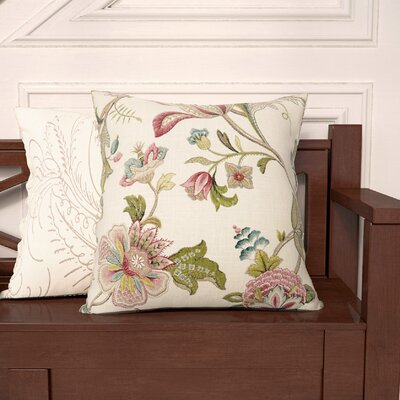 Hanley Crewels Throw Pillow Size: 20 H x 20 W